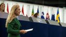 Kadri Simson, comisaria de Energía, en el Parlamento Europeo