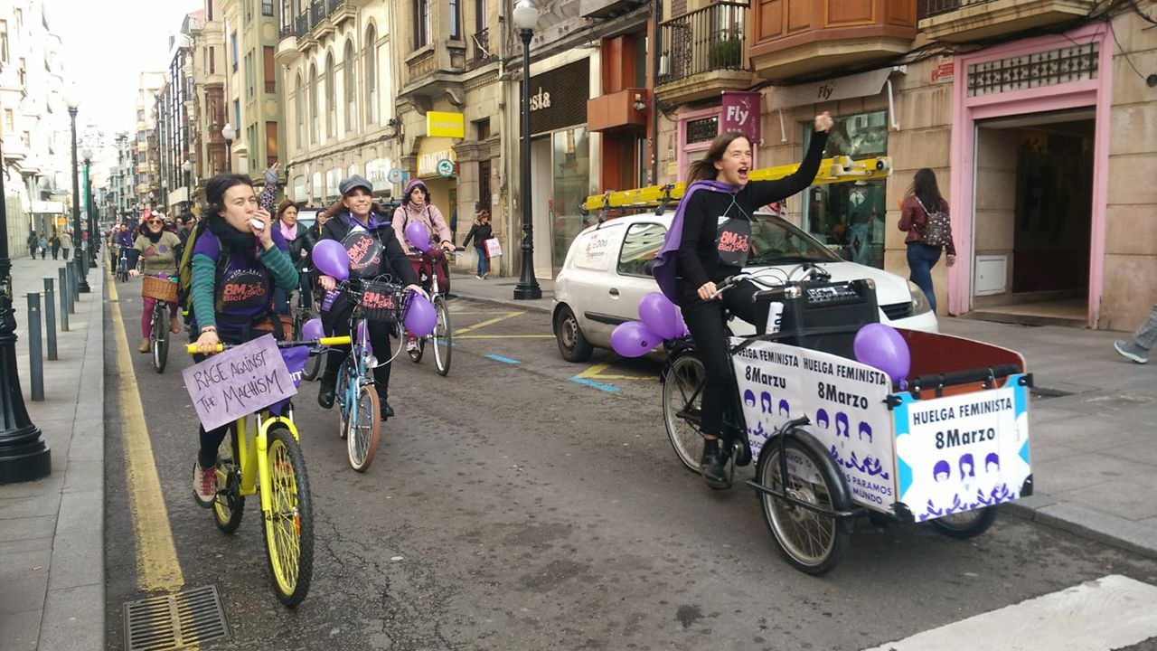 Bicicletada del 8-M en Gijón