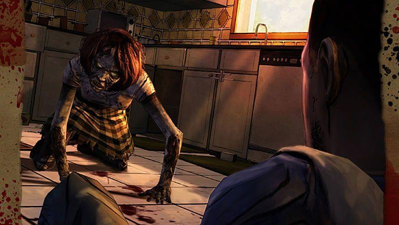 Walk.Los supervivientes, acorralados por los zombis en una escena del primer episodio de la tercera temporada de «The Walking Dead».