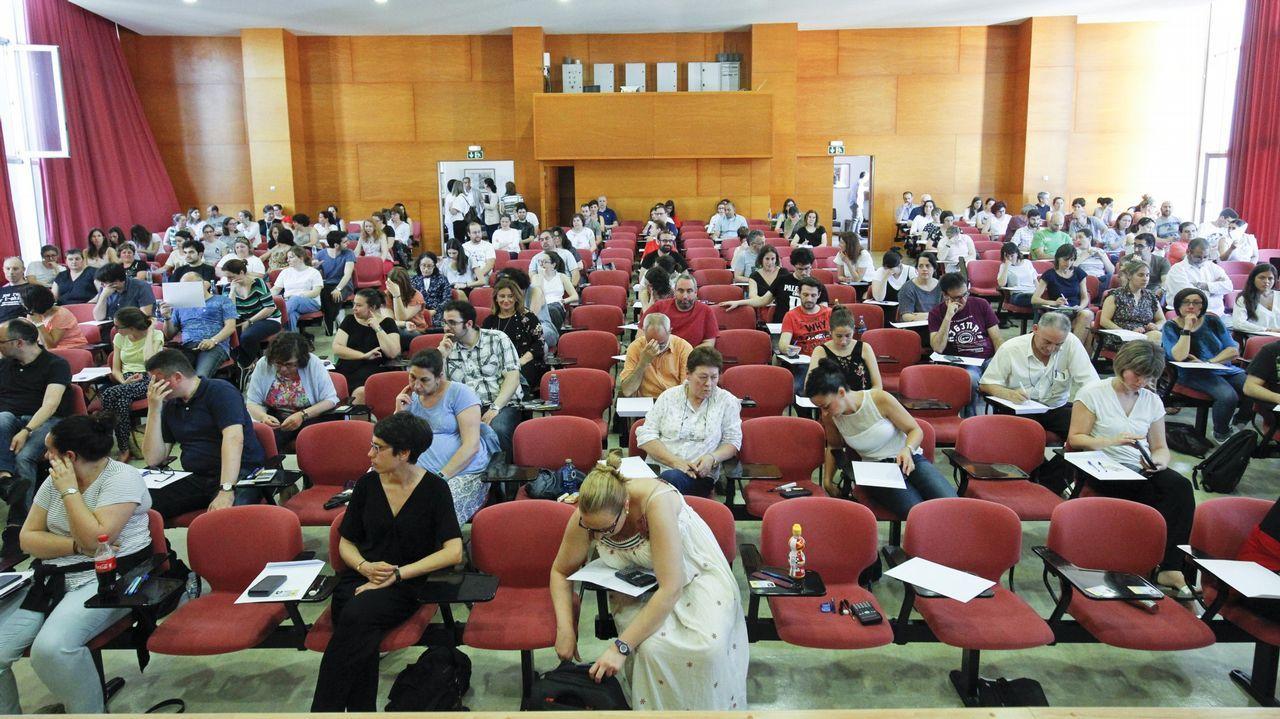 Imagen de archivo de las pruebas de Educación celebradas el año pasado en Santiago