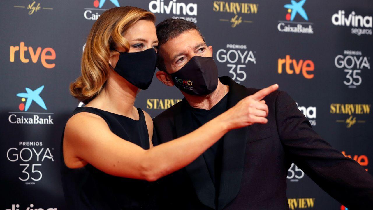 Los presentadores del evento, la periodista María Casado y el actor Antonio Banderas.
