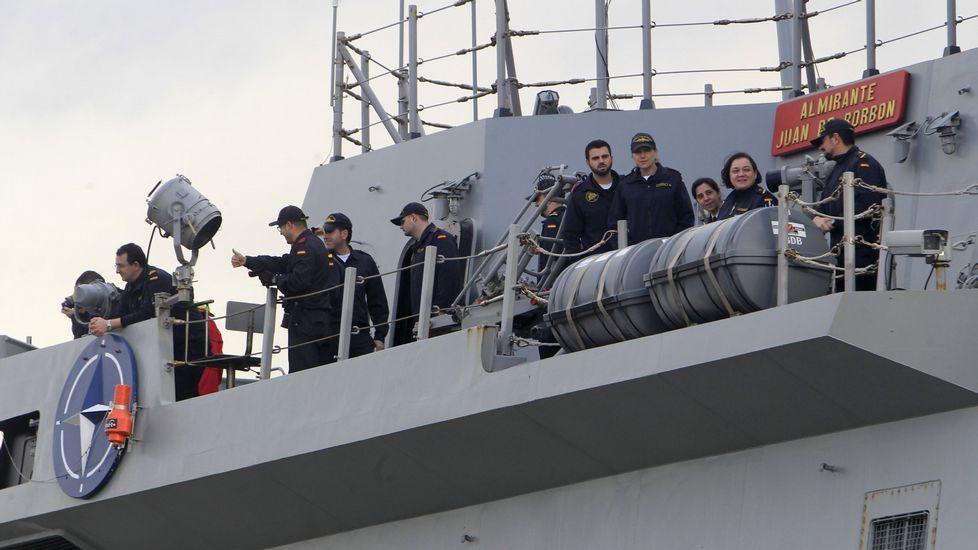 La «Almirante Juan de Borbón» tras un operativo con la OTAN