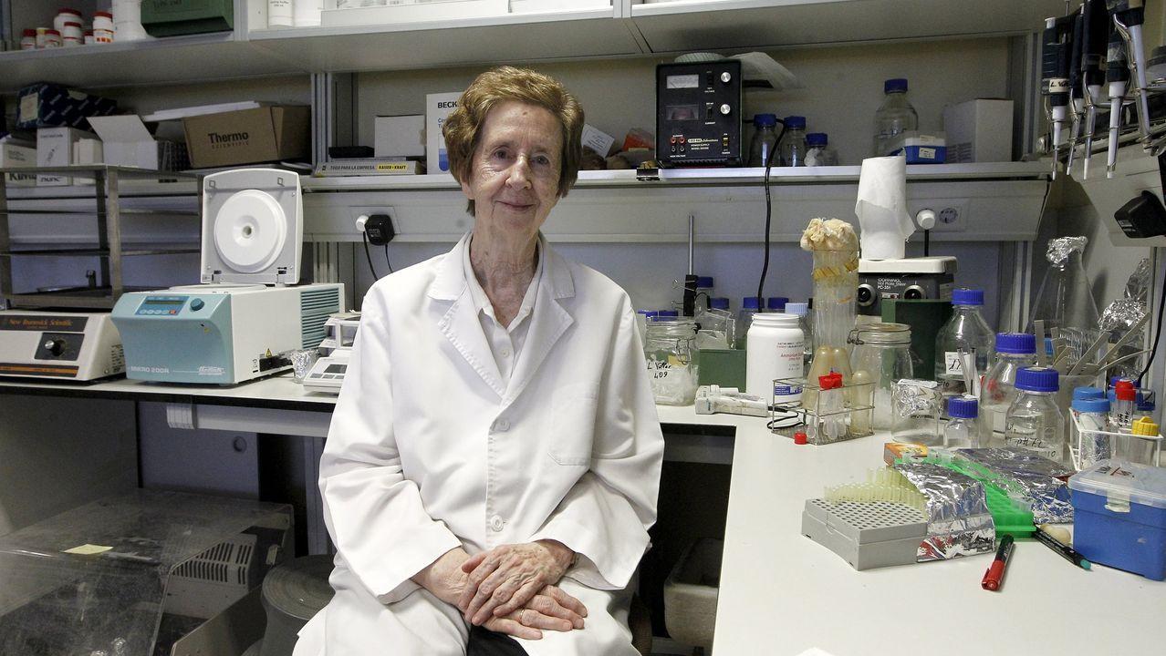 A investigadora Margarita Salas nun dos laboratorios do Centro de Biología Molecular (CBM) Severo Ochoa, da UAM