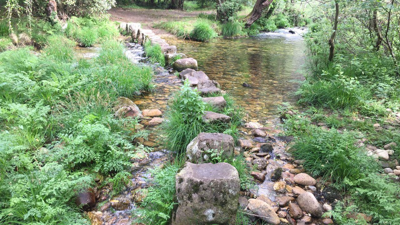 Pasales de Brazos, en el río Coroño, en Boiro