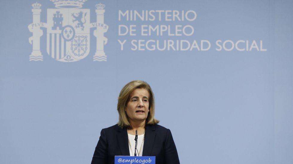 Fátima Báñez, ministro de Empleo y Seguridad Social.