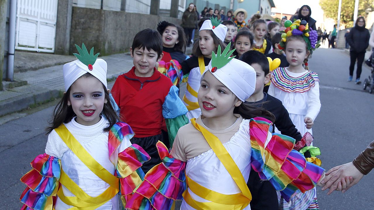 Álbum de fotos: Los escolares barbanzanos lucieron los mejores disfraces en los desfiles de carnaval