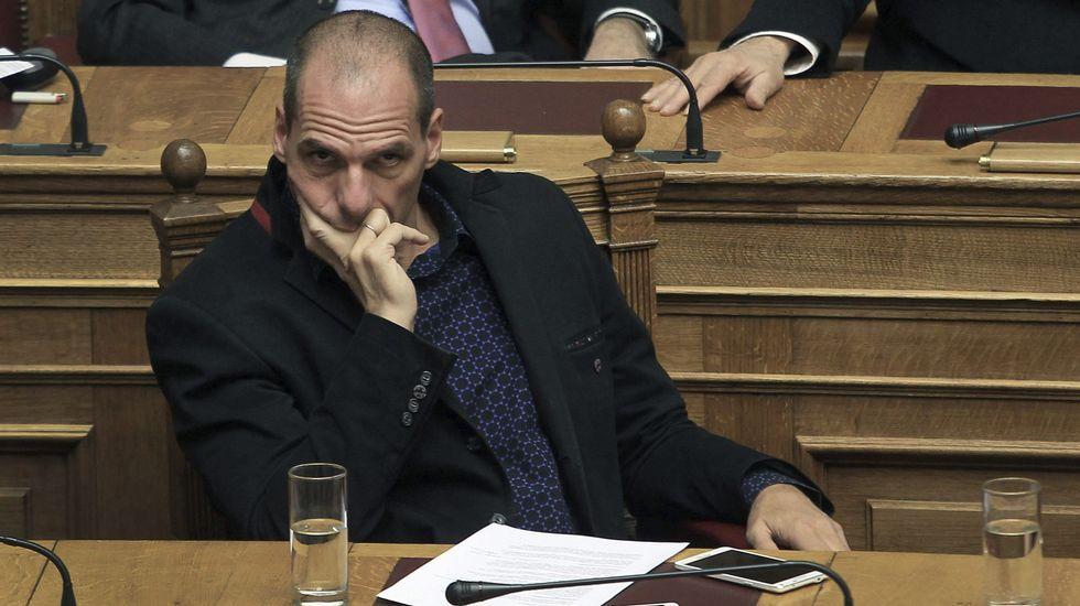 El ministro de Finanzas griego, Yanis Varufakis