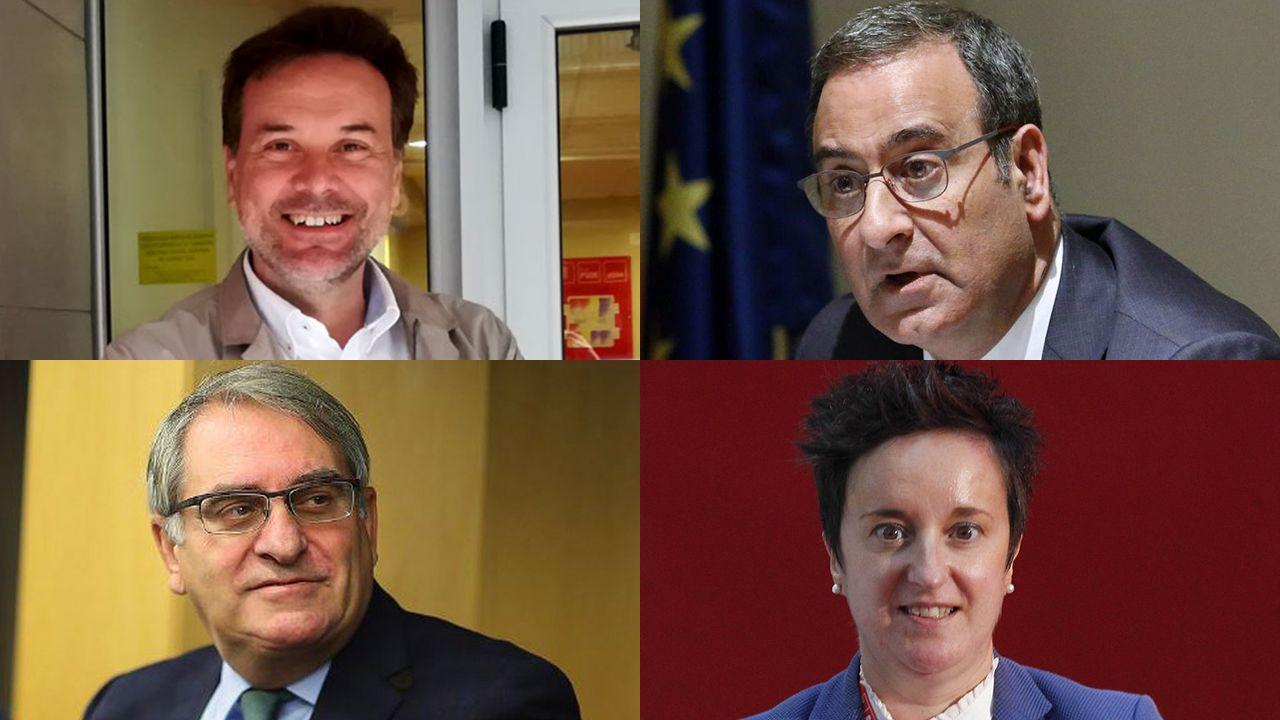 El PSOE inicia su campaña en el corazón de Oviedo.Senadores asturianos en las elecciones de 2019