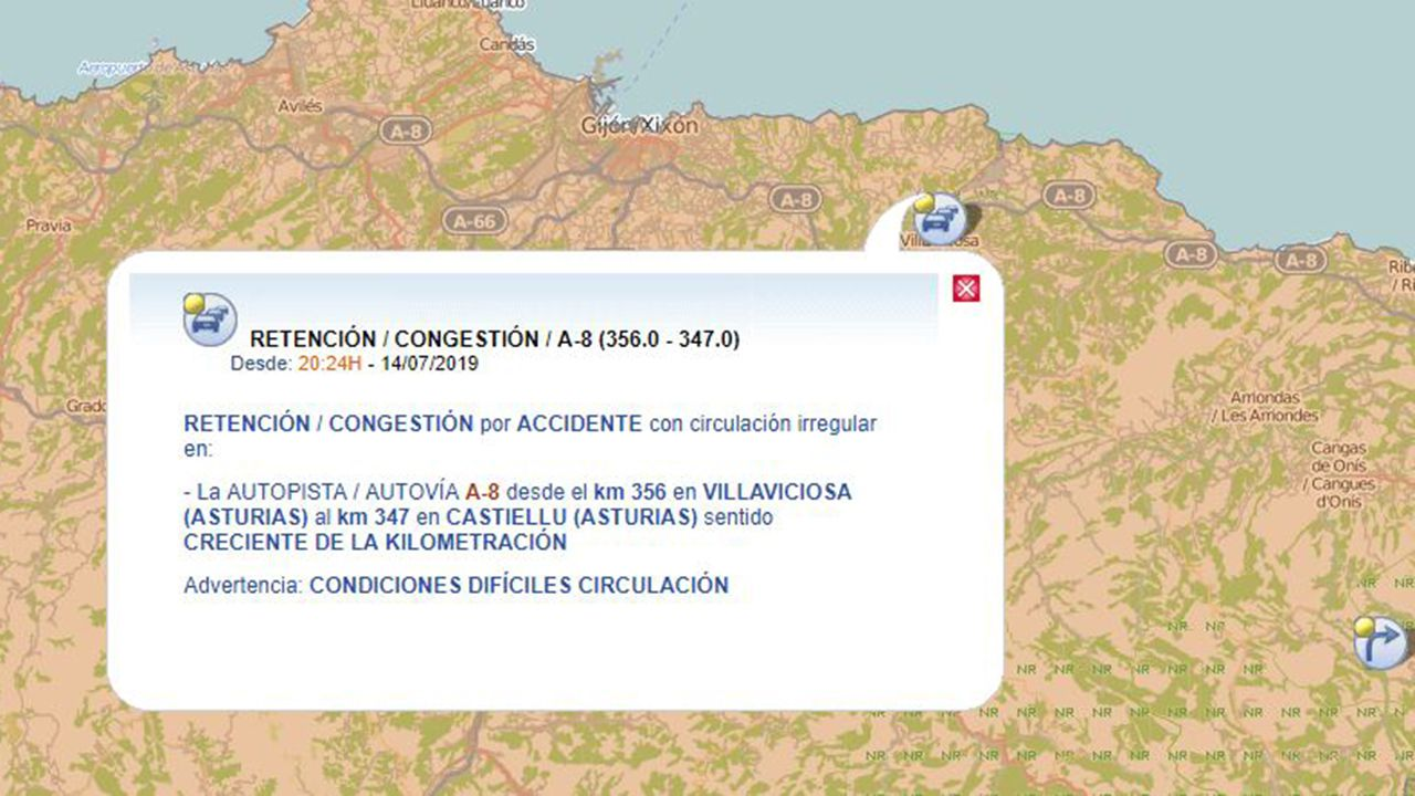 Atasco en Asturias