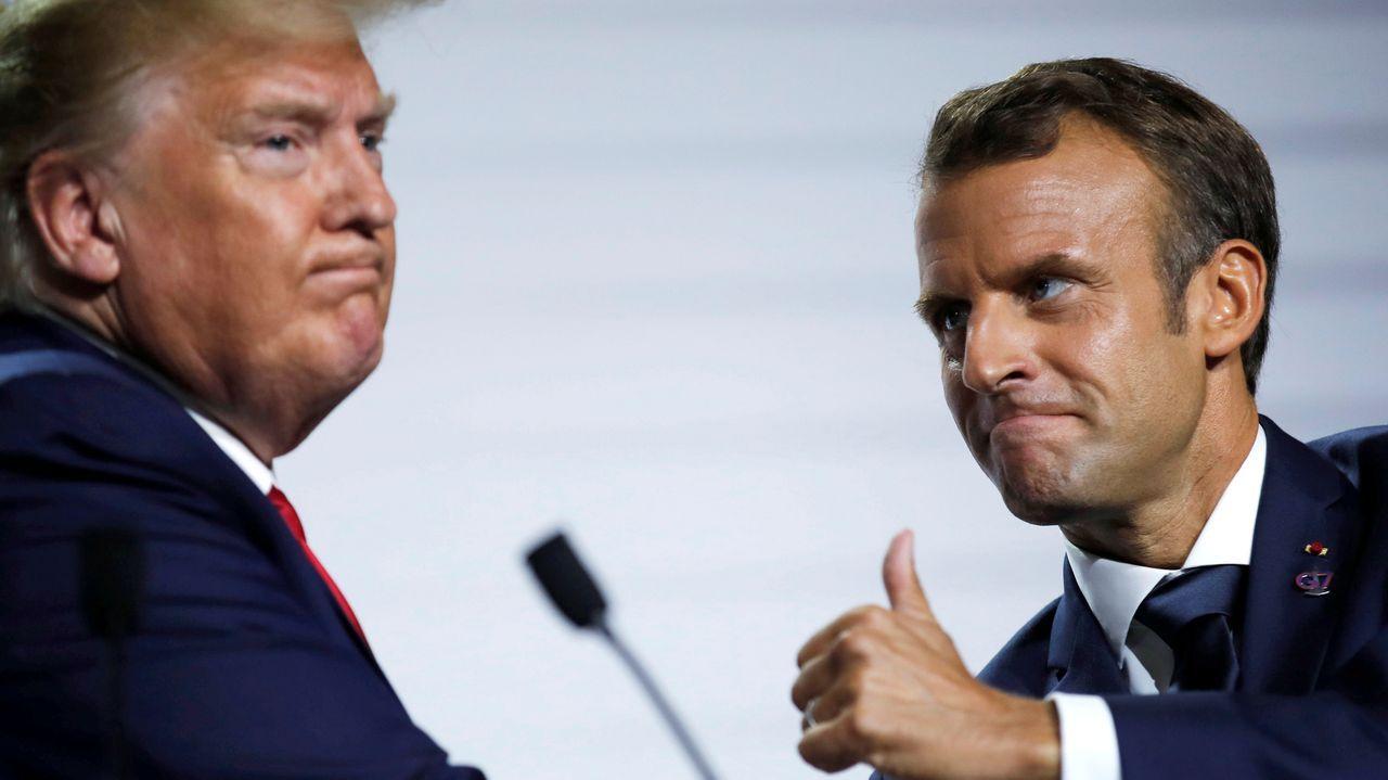 Macron parece haberle cogido la medida al imprevisible Donald Trump