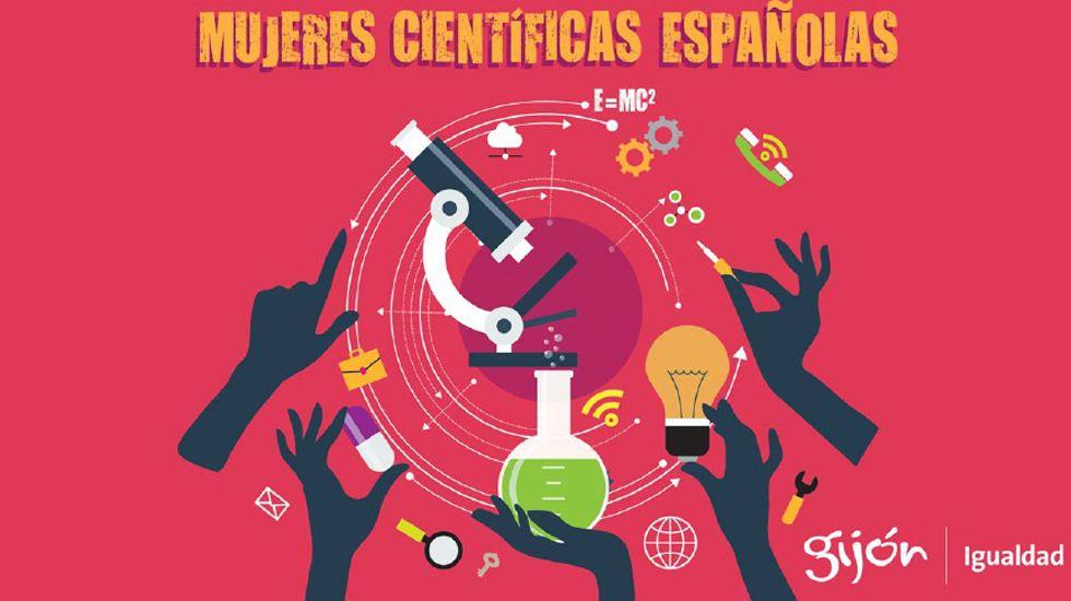 Portada del calendario y agenda «Mujeres científicas españolas», del Consejo de Mujer de Gijón