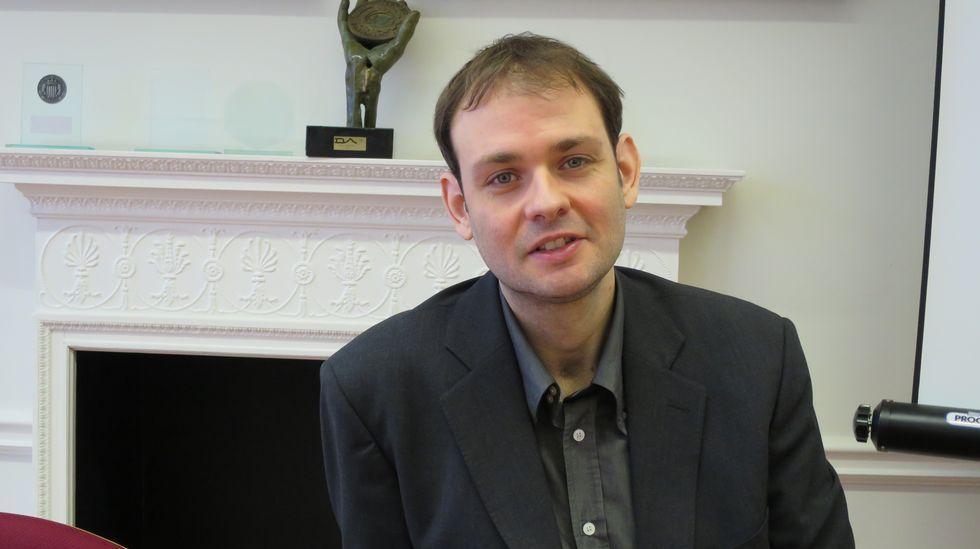 Jesús Agra recibió a La Voz de Galicia en su despacho de Londres.