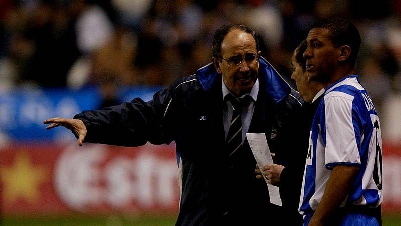 Paco Herrera, en Riazor