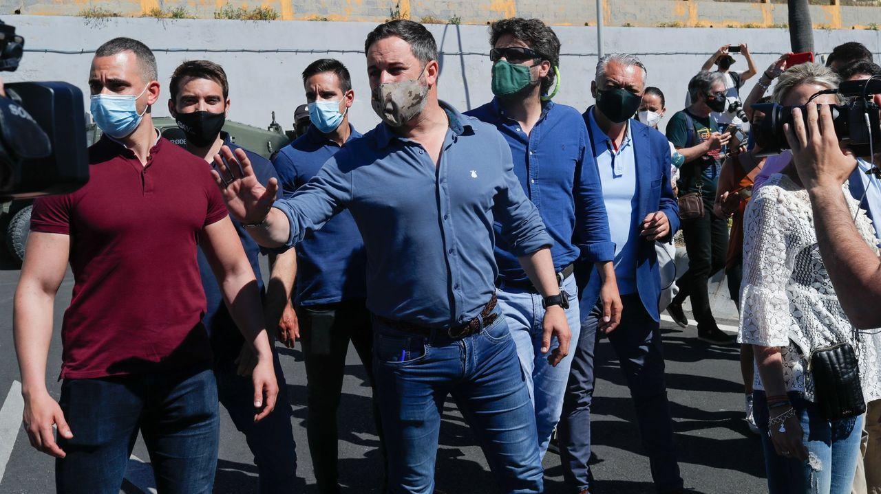Santiago Abascal, líder de Vox, visitando Ceuta en mayo