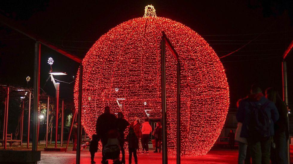 En Ribadavia ya está encendido el alumbrado navideño