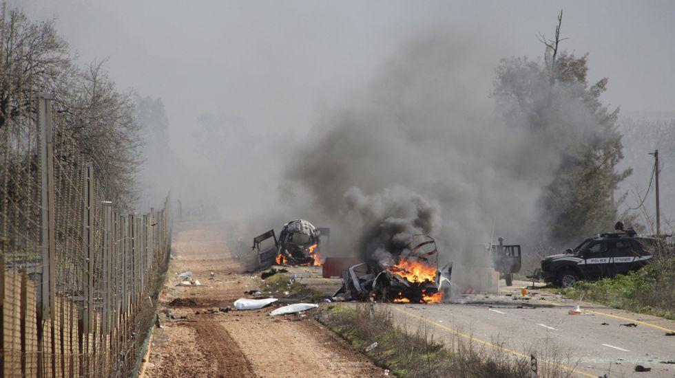 Las imágenes del ataque israelí.Tensión en la frontera entre Israel y Líbano.