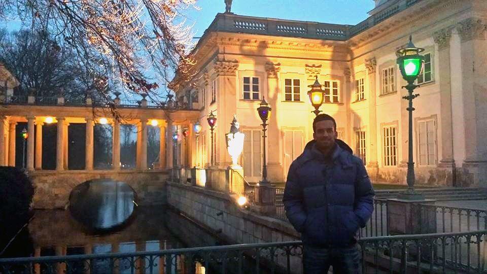 El asturiano Jaime Rodríguez, en el parque Lazienki de Varsovia