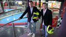 Óscar Iglesias y Adrián Fernández, socios del karting.