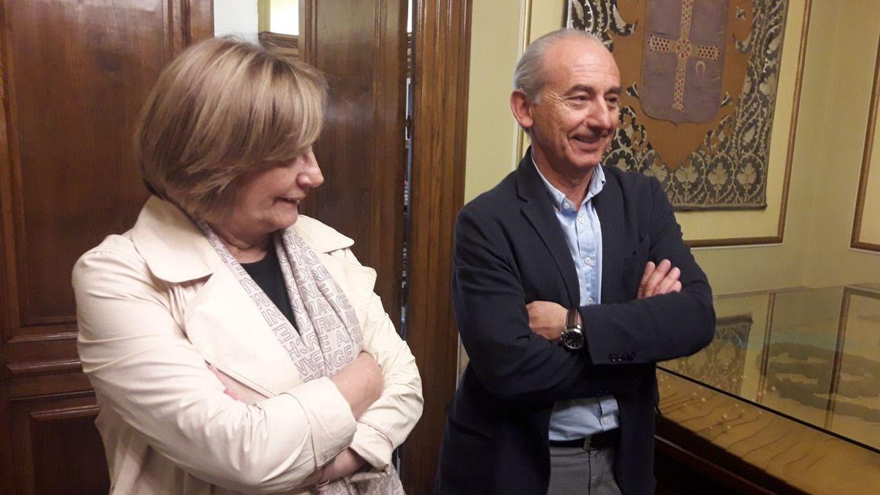 Mariví Monteserín y Luis Noguera.La alcaldesa de Avilés, Mariví Monteserín, y Luis Noguera
