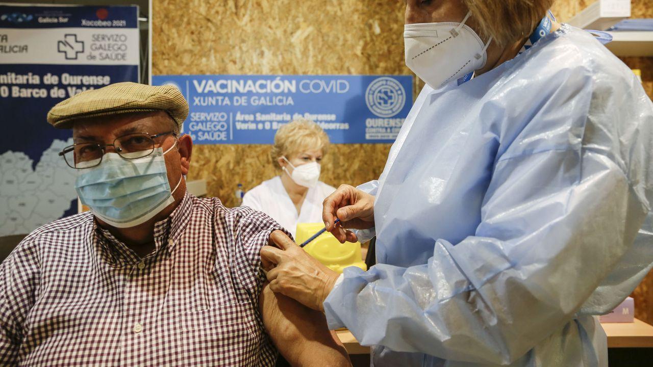 Vacunación contra el covid-19 en Expourense