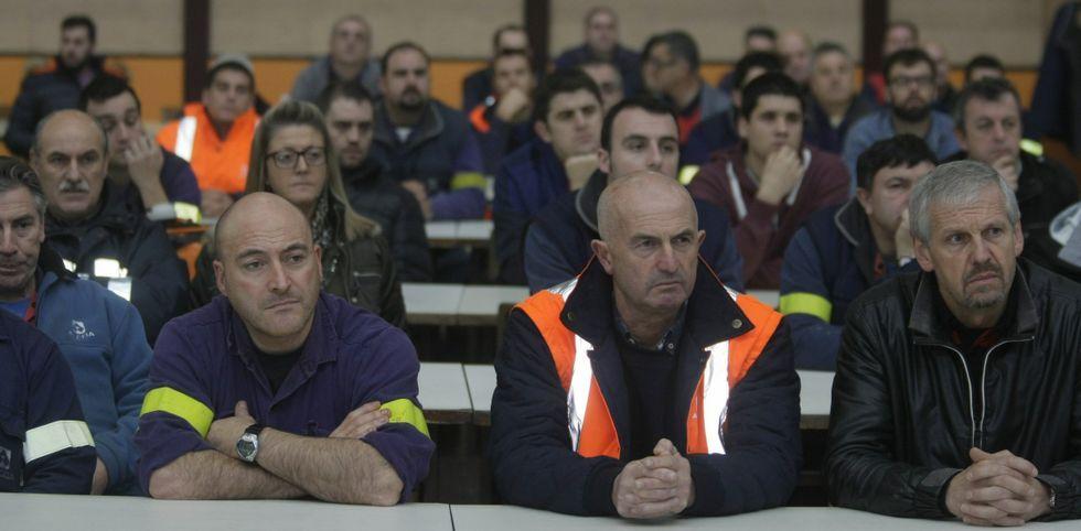 La plantilla de la fábrica de san Cibrao está a la expectativa del nuevo plan de acción de la empresa.