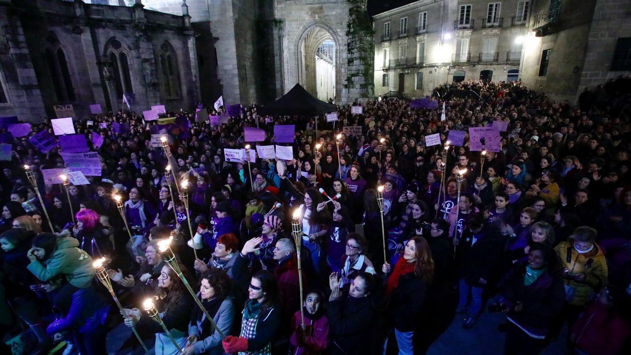 Manifestación feminista del 8M en Lugo