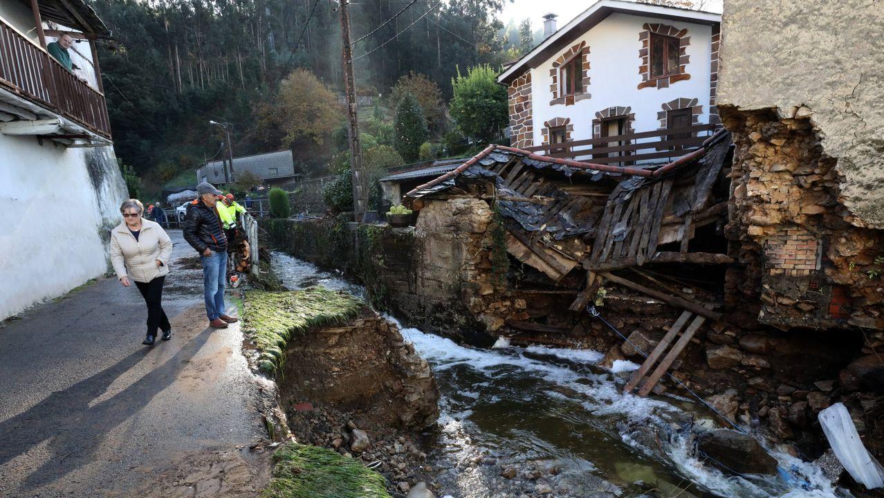 Las graves inundaciones en Xunqueira (Viveiro) causaron en el 2018 la muerte de una mujer