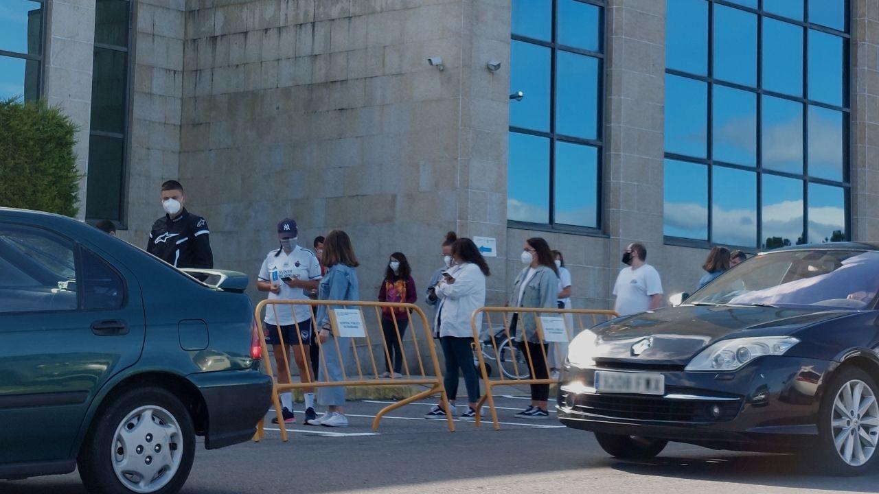 Imagen del último cribado realizado en el hospital comarcal a jóvenes