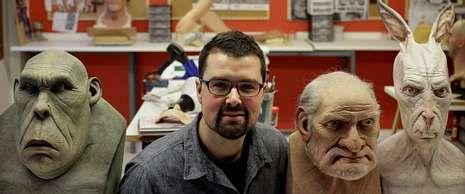 Alberto Hortas, en un reciente curso de máscaras.