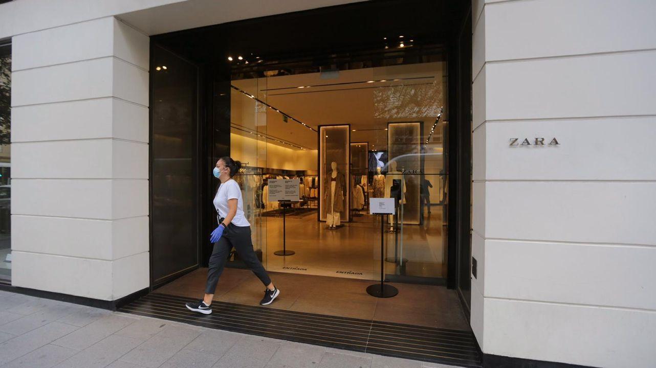 El Zara de Juan Flórez en A Coruña, esta mañana