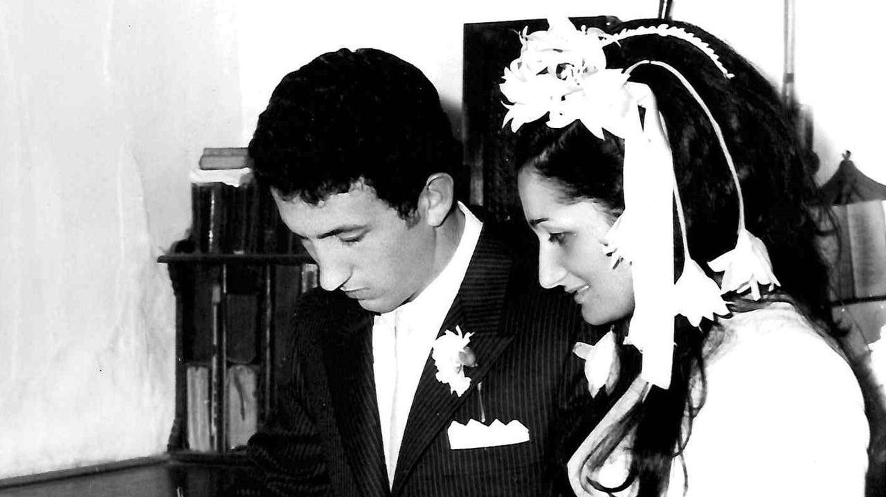 Siso y Marily, el día de su boda en Foz, el 20 de junio de 1970