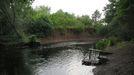 Zona del río Cabe utilizada por los bañistas en Vilanova