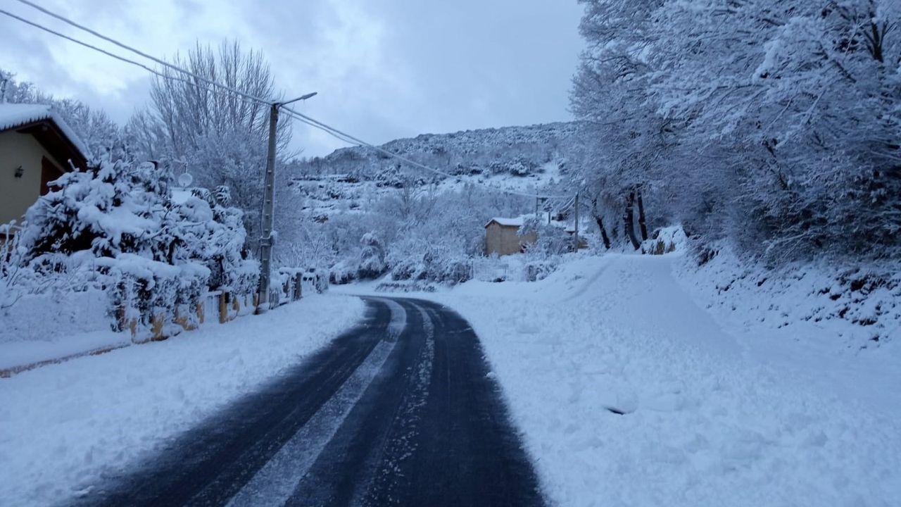 La BRIF de Tineo trabajando en la nieve