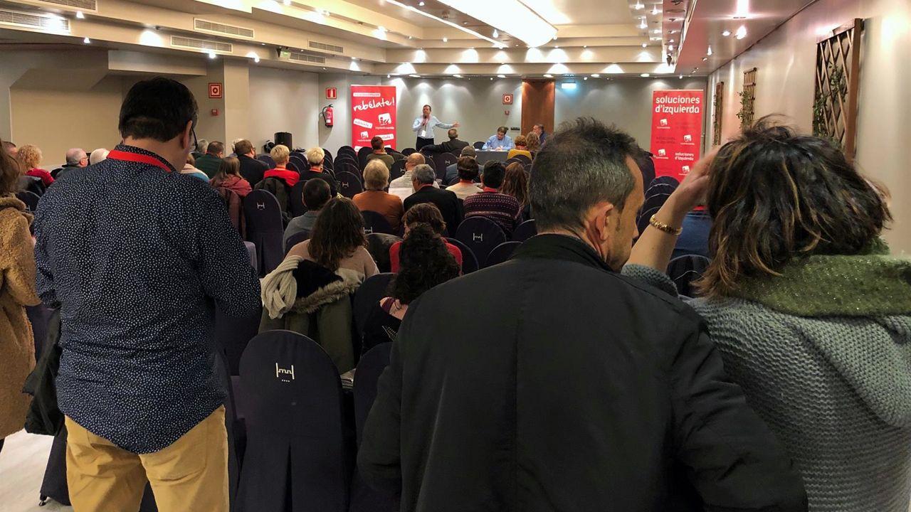 Reunión de Izquierda Unida  (IU) de Asturias