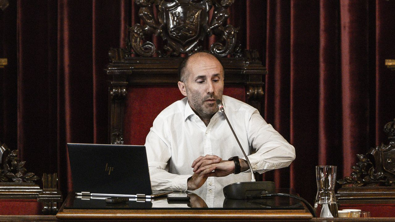 Gonzalo Pérez Jácome, en la rueda de prensa que protagonizó este miércoles