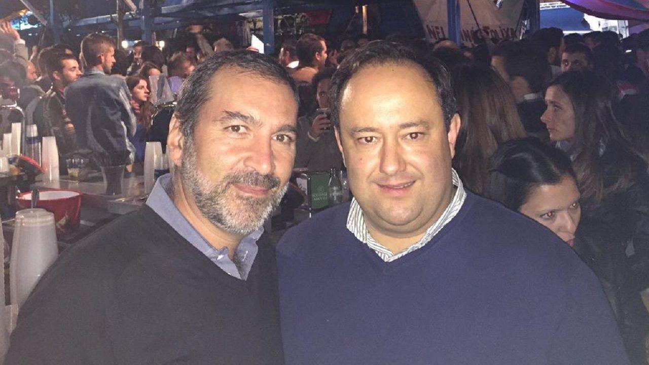 La autopista del Huerna.Jose Aboumrad y Jorge Menéndez Vallina en una foto de 2015