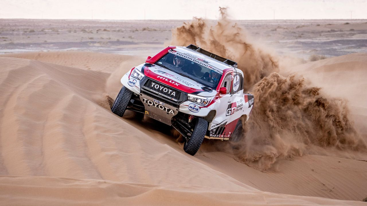 Fernando Alonso, Toyota, Rallye Marruecos.Fernando Alonso conduce por las dunas del desierto en Marruecos