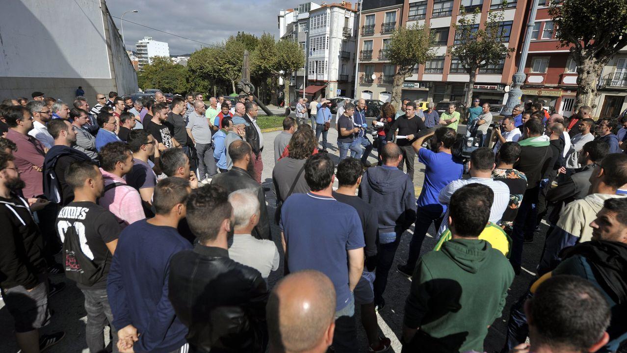 Escape en las baterias de coque de Avilés de Arcelor.Movilizaciones en defensa de Alcoa en Oviedo