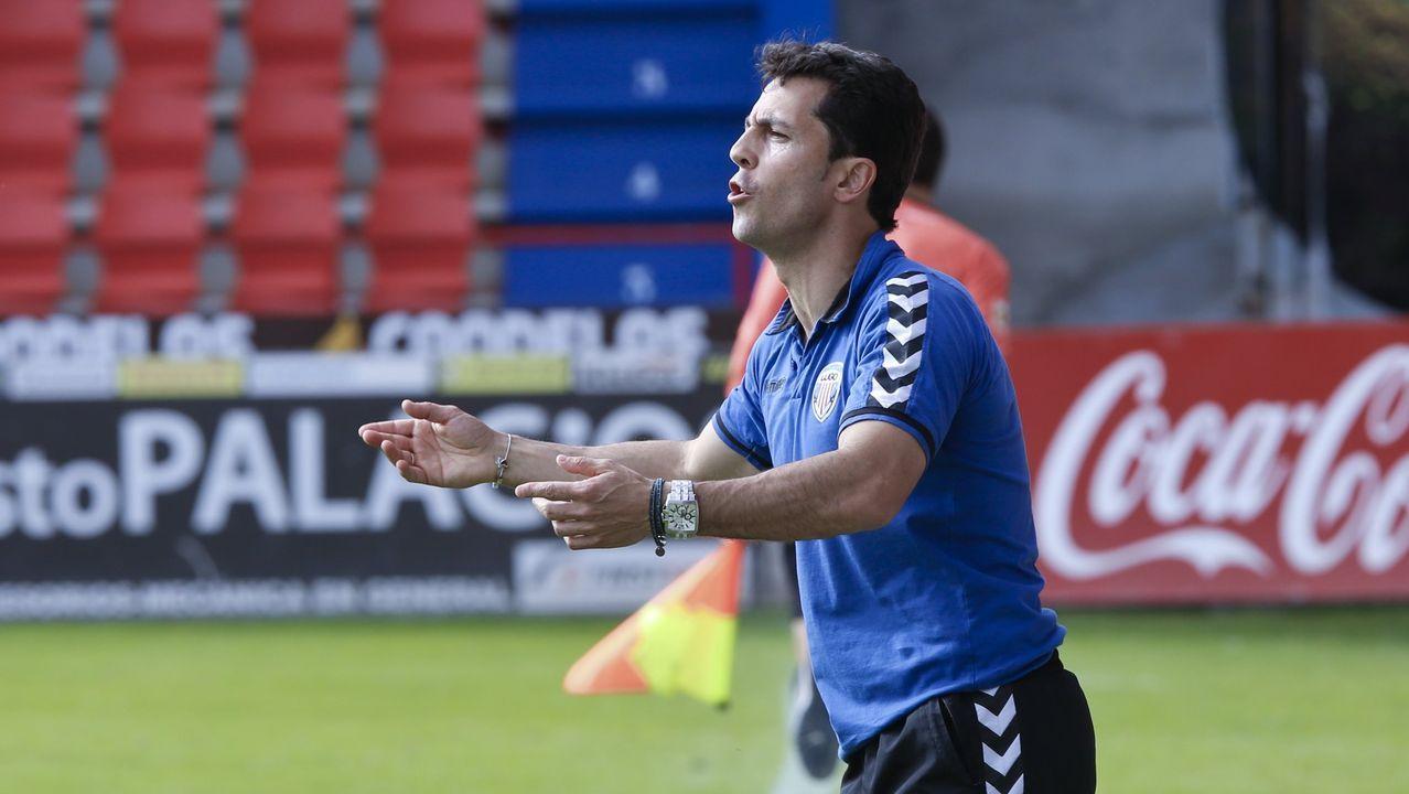 Jose Durán en un partido en el Ángel Carro
