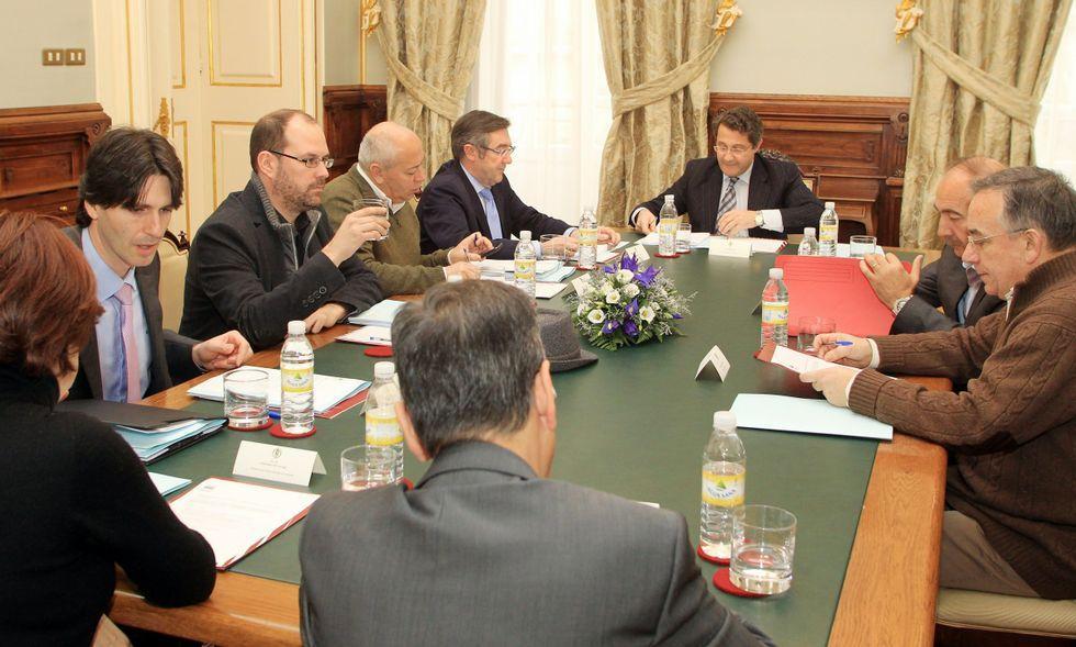 Una reunión de la Mancomunidade del 2012 con varios alcaldes que no acabaron el mandato.