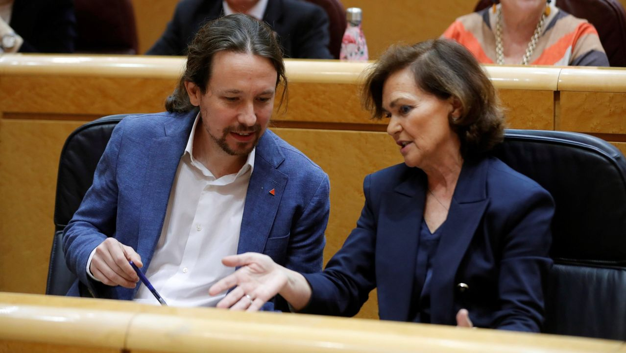 Carmen Calvo y Emiliano Garcia-Page, este sábado, en Ciudad Real