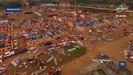Las imágenes tomadas por un dron dan cuenta de la destrucción en el cuartel de Bata y sus alrededores