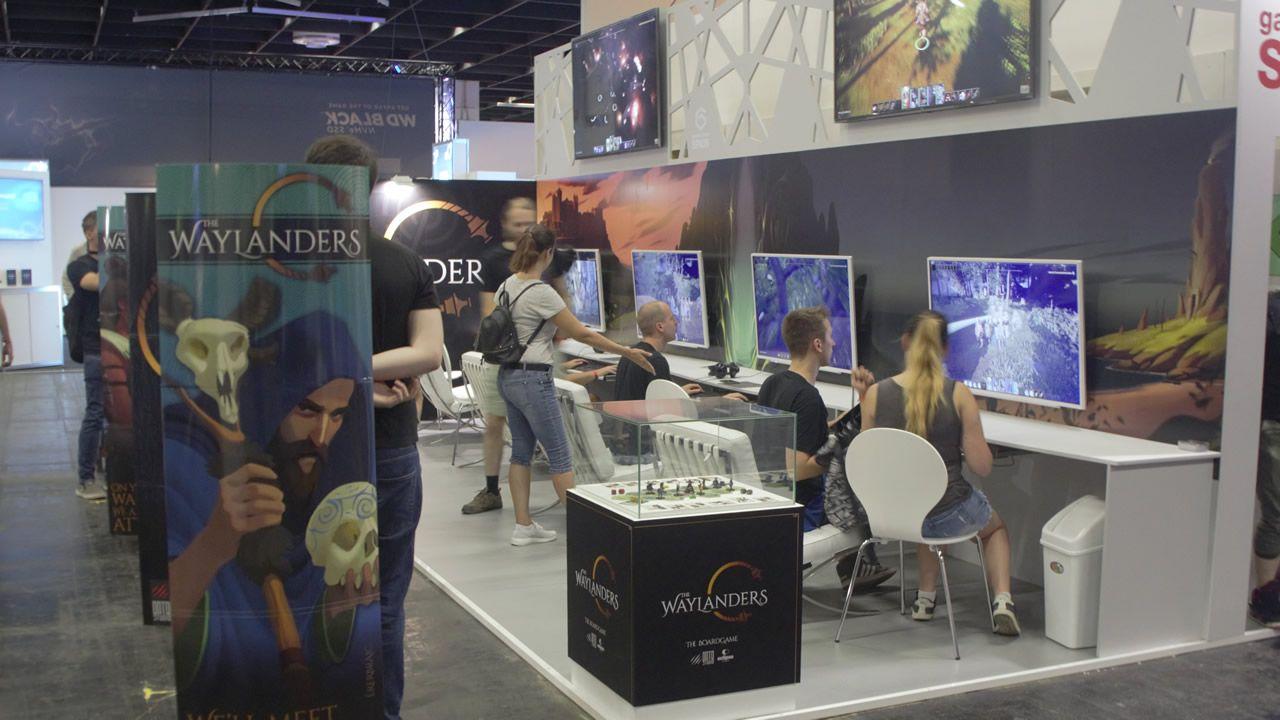 Stand de Gato Studio en la última feria Gamescon de Colonia