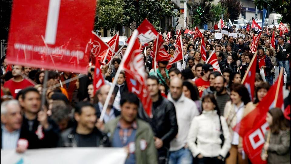 Manifestación en Ourense.Los ourensanos también protestaron contra la ley Wert