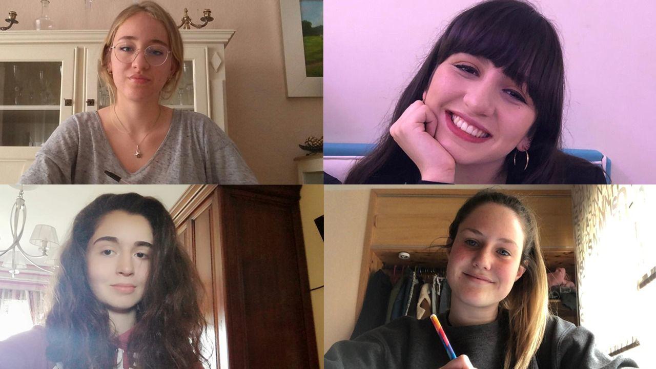 Carmen Ruiz (arriba a la izquierda), Virginia Fernández (arriba a la derecha), Carmen Vigil (abajo a la izquierda) e Irene González-Pola (abajo a la derecha)