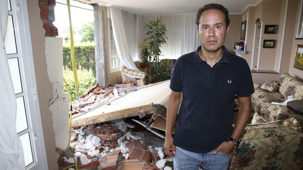 Luis Sotelo, hijo de la dueña de la casa que resultó herida.