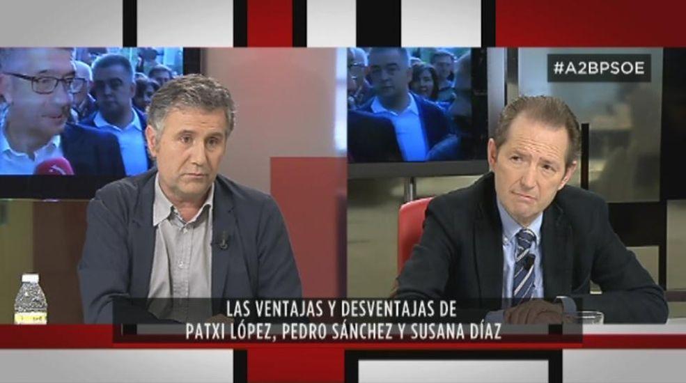 Patxi López visita la sede del PSOE en Vilagarcía.Los socialistas Pedro Sánchez y Susana Díaz, en la feria sevillana