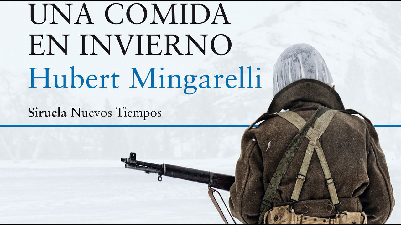 Detalle de la portada de la novela de Hubert Mingarelli «Una comida en invierno»