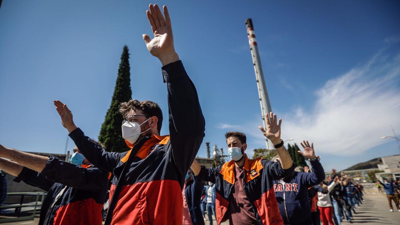 repsol.Manifestación este viernes en A Coruña contra el ERTE en la refinería