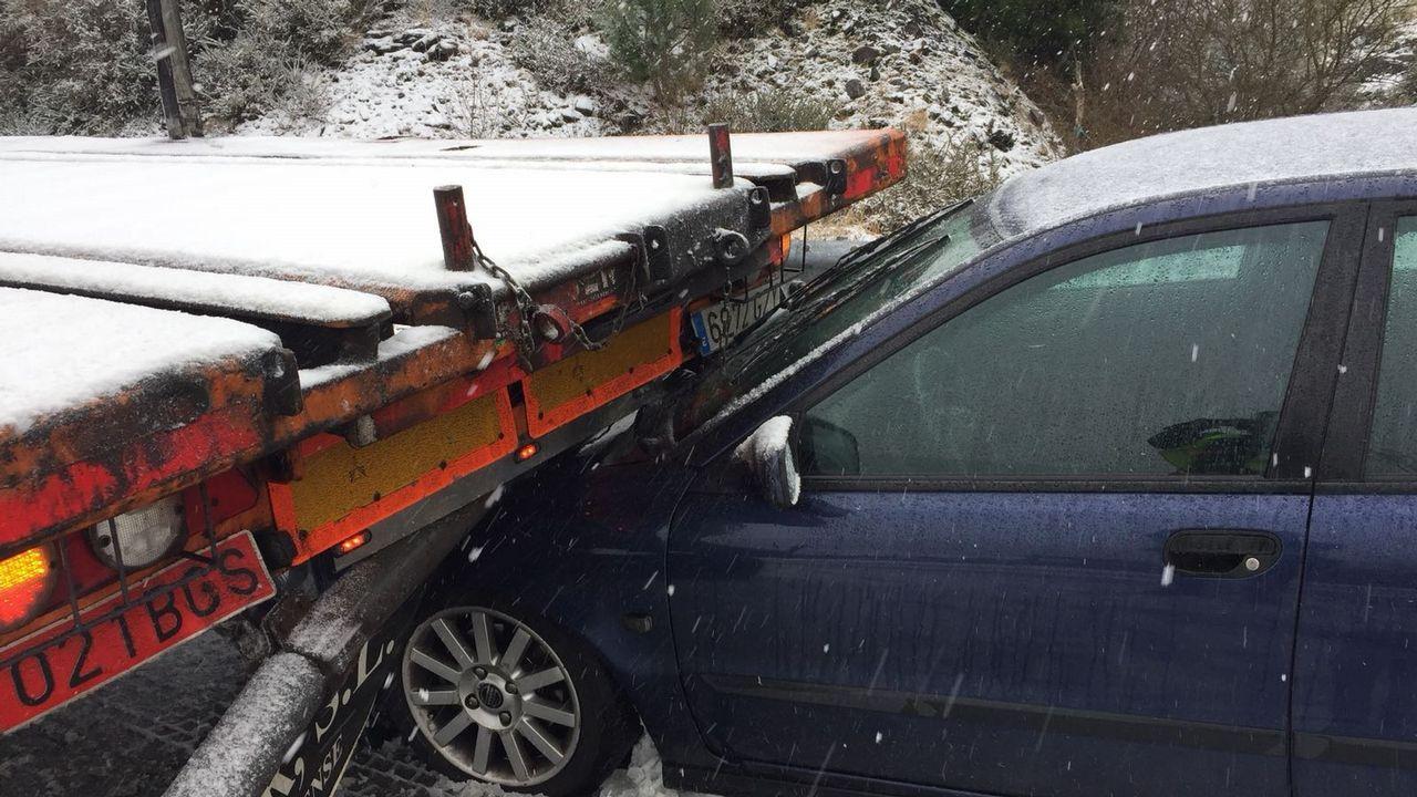 Accidente por la nieve en monte Caxado, As Pontes